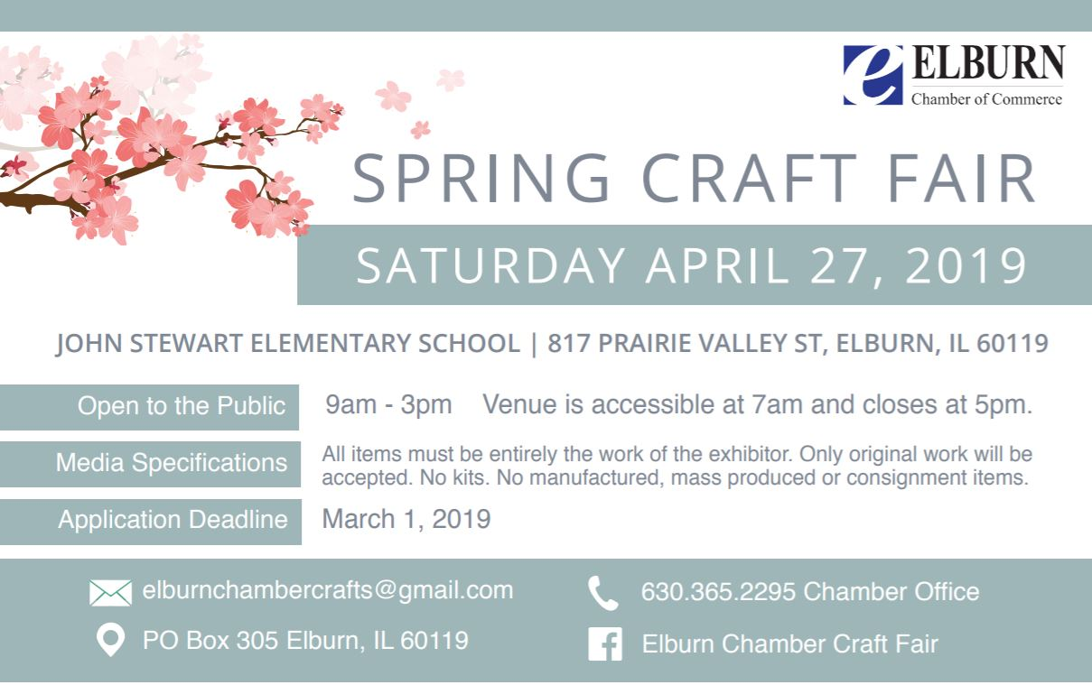 Elburn Chamber Spring Craft Show 2019