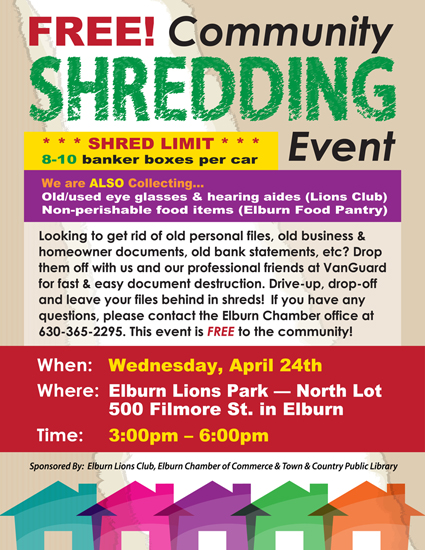 FREE Community Shred Event – Elburn Chamber of Commerce
