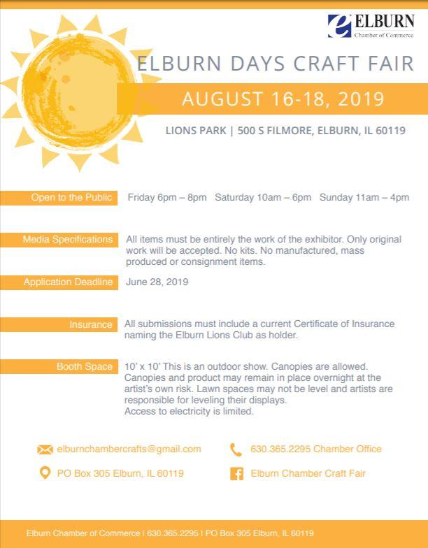 Elburn Days Craft Show 2019