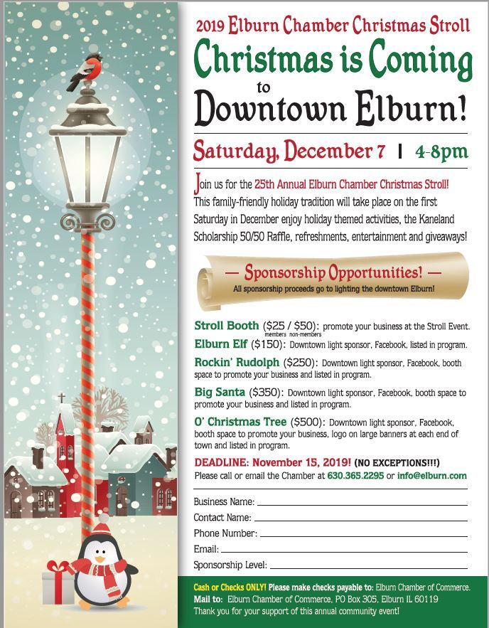 Christmas Stroll Flyer Image